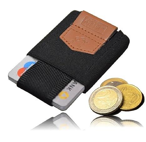 """Mini cartera """"elástica"""" MOTR hecha a mano con capacidad de 4 a 8 tarjetas"""
