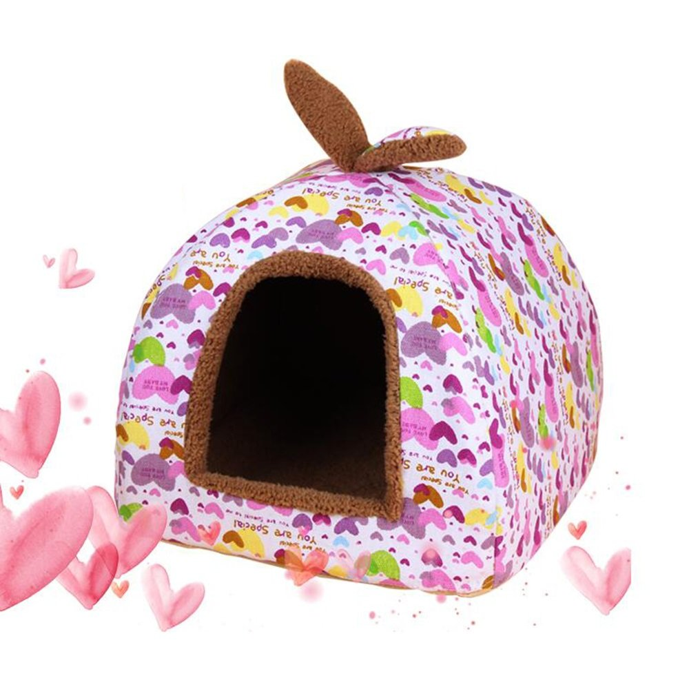 2 MediumWXWX Pet Supplies Round Nest Doghouse Cat Nest Kennel Teddy Yurt Cat House Closed Type Winter Keep Warm Pet Supplies Multifunction (color   04, Size   S)