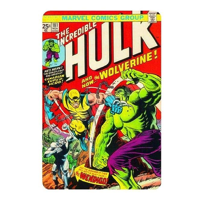 HuXwei Avengers Vintage Home Decoration Metal Carteles de ...