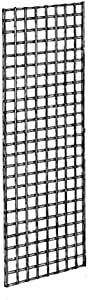 Econoco Commercial Grid Panels, 2' Width x 5' Height, Black (Pack of 3)