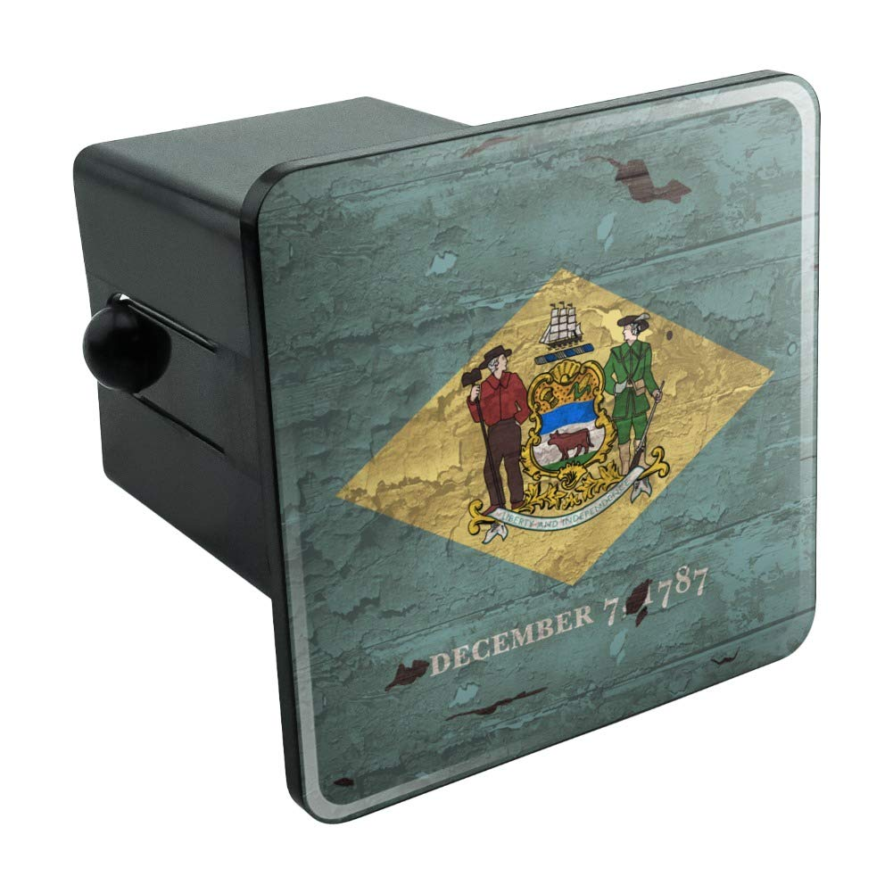 1.25 Graphics and More Rustic Delaware State Flag Distressed USA Tow Trailer Hitch Cover Plug Insert 1 1//4 inch