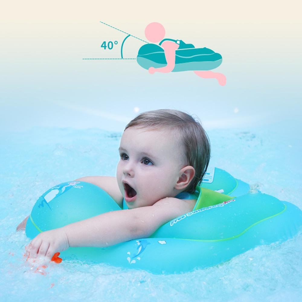 Leegoal Baby Swimming Float, Leegoal Inflatable Baby Float Ring for Swimming Pool, Infants Waist Floats Toy, Newborn Swim Training Toys (L)