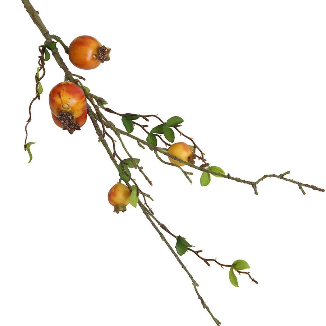 FZZ698 造花、フェイクフラワー、女性用フェイクフラワー、花の庭のホームデコレーションブーケ 本物のようなフルーツの花 ポメグラネート ベリーブーケ オレンジ FZZ-01-0003 B07FXNKV8Y オレンジ