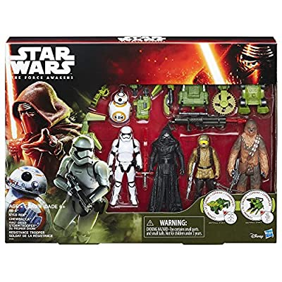 Star Wars The Force Awakens Forest Mission Figurines, Pack of 5, 3.75-Inch