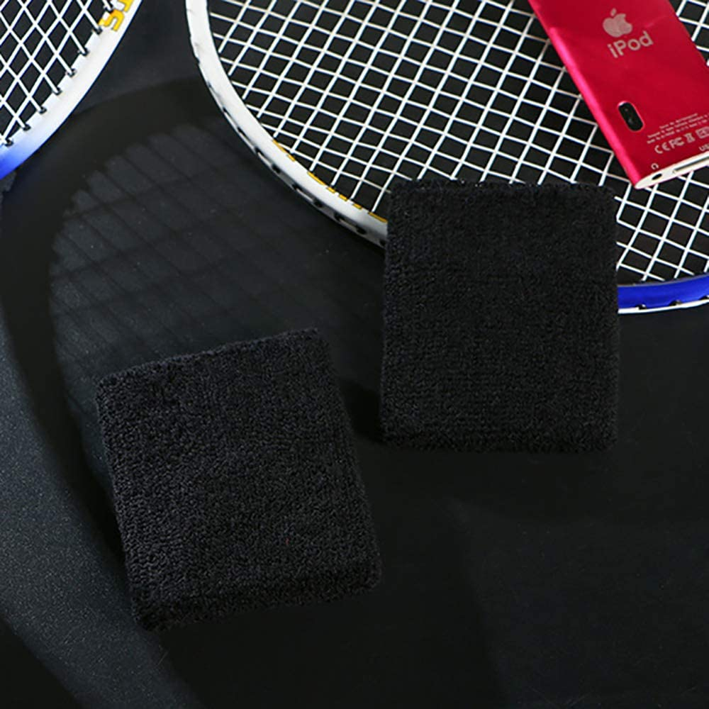 Schwarz Gut f/ür Tennis Arbeiten aus Fitness Laufen Linhut 6 Teile Schwei/ßband Sports Armband Schwei/ßband f/ür M/änner und Frauen Basketball