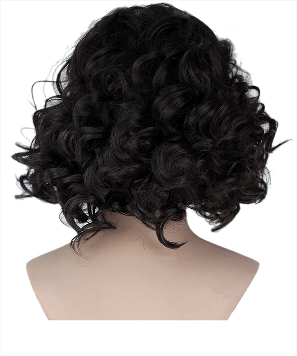 Amazon.com: Snow Wig Xcoser Hot TV Short Curly Wave Layered Hairs for Men: Clothing