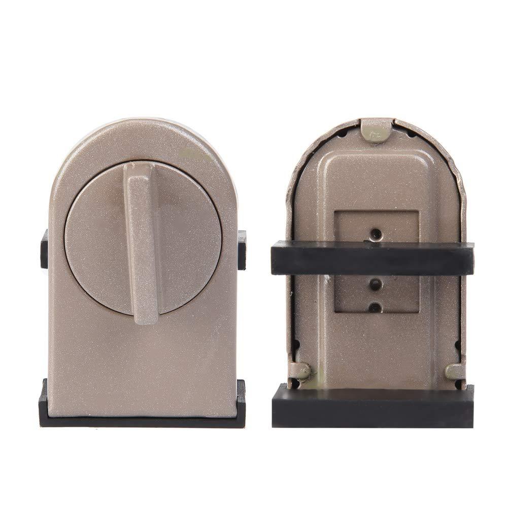 Serratura di sicurezza antifurto finestra stopper cuneo in metallo regolabile stabile porta serrature di sicurezza con interruttore rotante per finestra scorrevole