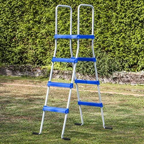 Gre ET1300 - Escalera standard con plataforma para piscina de altura 132cm: Amazon.es: Jardín