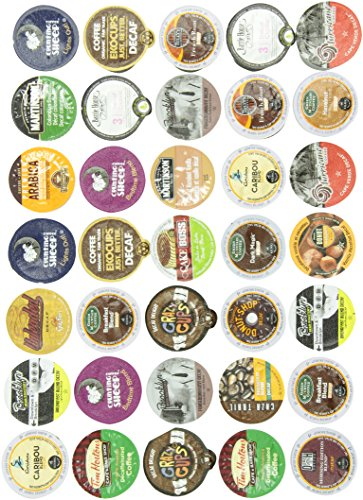 Amazon Lightning Deal 81% claimed: Crazy Cups Decaf Coffee Gift Sampler Single-Cup Coffee Pack Sampler for Keurig K-Cup Brewers 35-Count