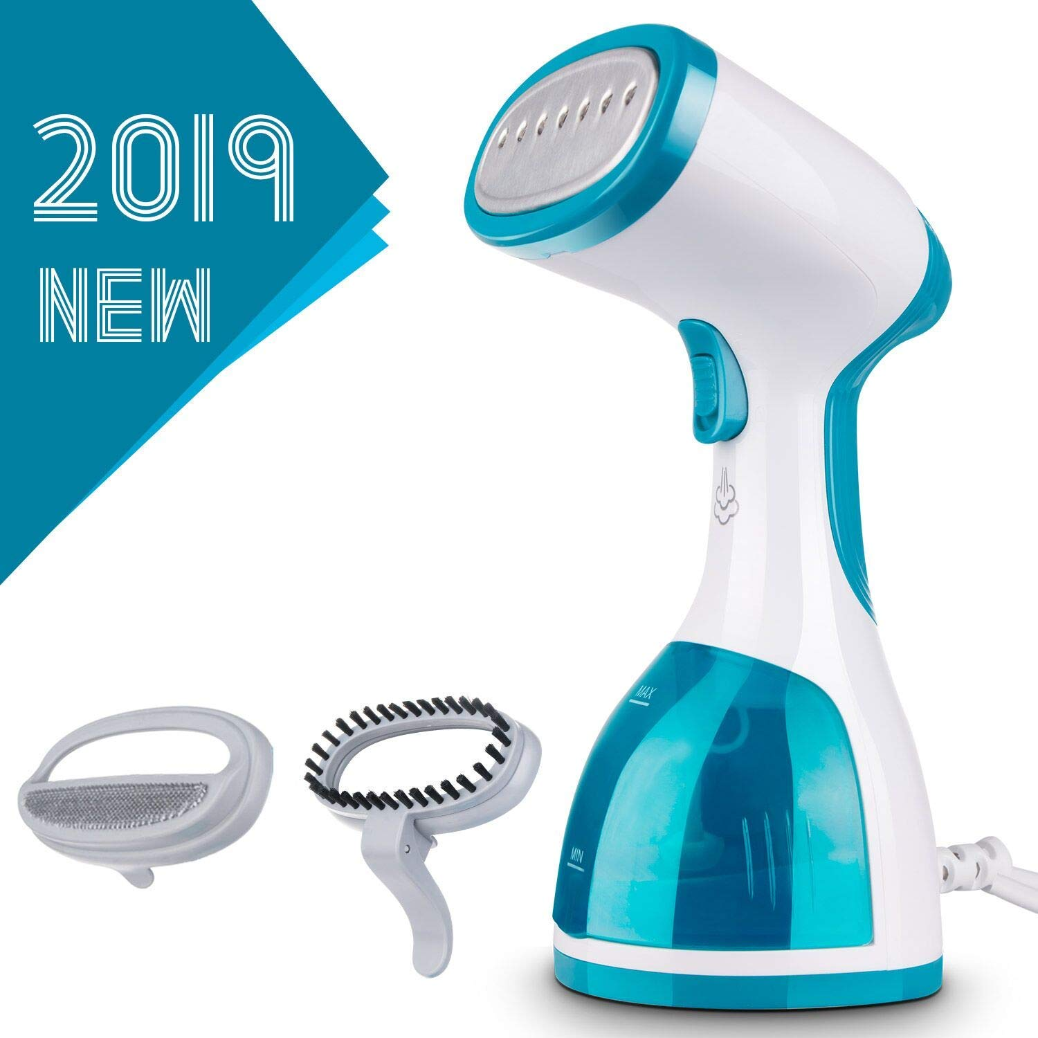 Steamer for Clothes-Upgraded Portable Clothes Steamer, 1000W Powerful Hand Held Garment Steamer with 8.79 oz. Large Detachable Water Tank for Clothes Wrinkle Remover, Soften, Clean and Sterilize, 40s