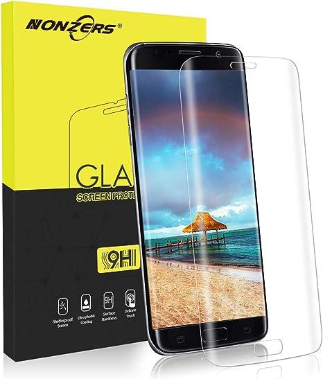 NONZERS Protector de Pantalla para Samsung Galaxy S7 Edge Cristal Templado, Glass Screen Protector, 3D Cobertura Completa, Sin Burbujas, Alta Definicion, 9H Dureza, Anti-Arañazos, Transparent: Amazon.es: Electrónica