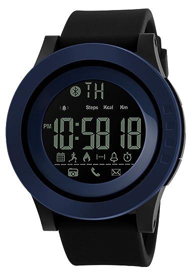 Hombres Mujeres Reloj Inteligente calorías podómetro multi-functions, 50 m resistente al agua Digital