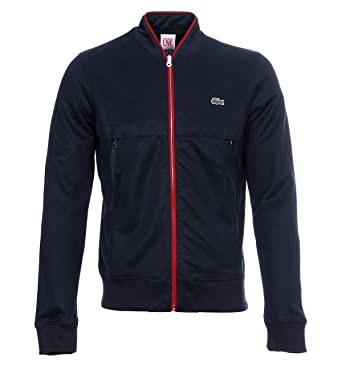 08a957ffb2 Lacoste Live Bomber Navy / Marine (B26) Mens Jacket Lacoste Live Tag 8  (xxL): Amazon.co.uk: Clothing