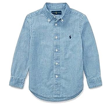 d8b0e6d10 Amazon.com  RALPH LAUREN Polo Boys Chambray Long Sleeve Shirt  Clothing