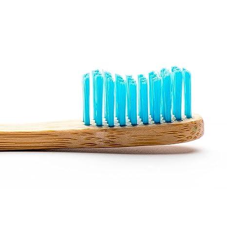Cepillo de dientes de Humble Brush, tamaño mediano con cerdas azules, para adultos (