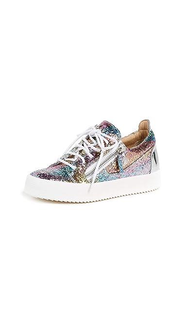 943d601b887fc Amazon.com: Giuseppe Zanotti Women's May Zip Sneakers, Multi, 40 M EU: Shoes