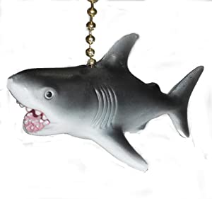 Great White Shark Fan Pull Decorative Light Chain