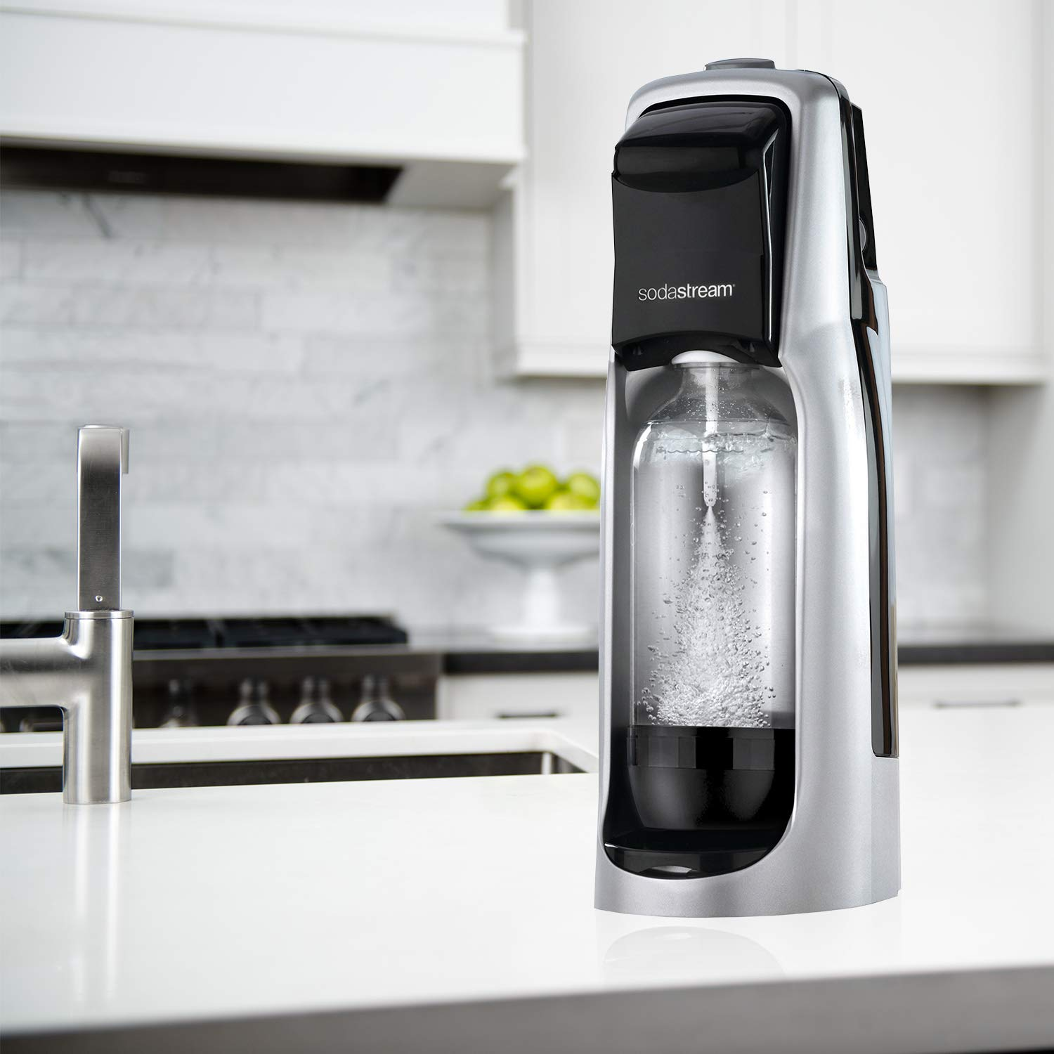 SodaStream Jet Sparkling Water Maker, Carbonator Not Included, Black/Silver