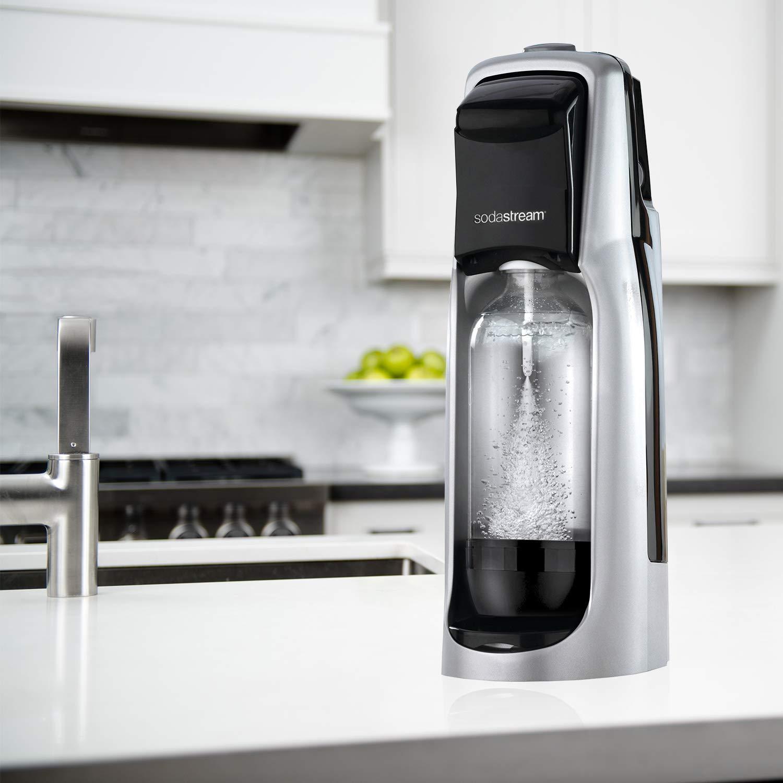 SodaStream Jet Sparkling Water Maker, Carbonator Not Included, Black/Silver