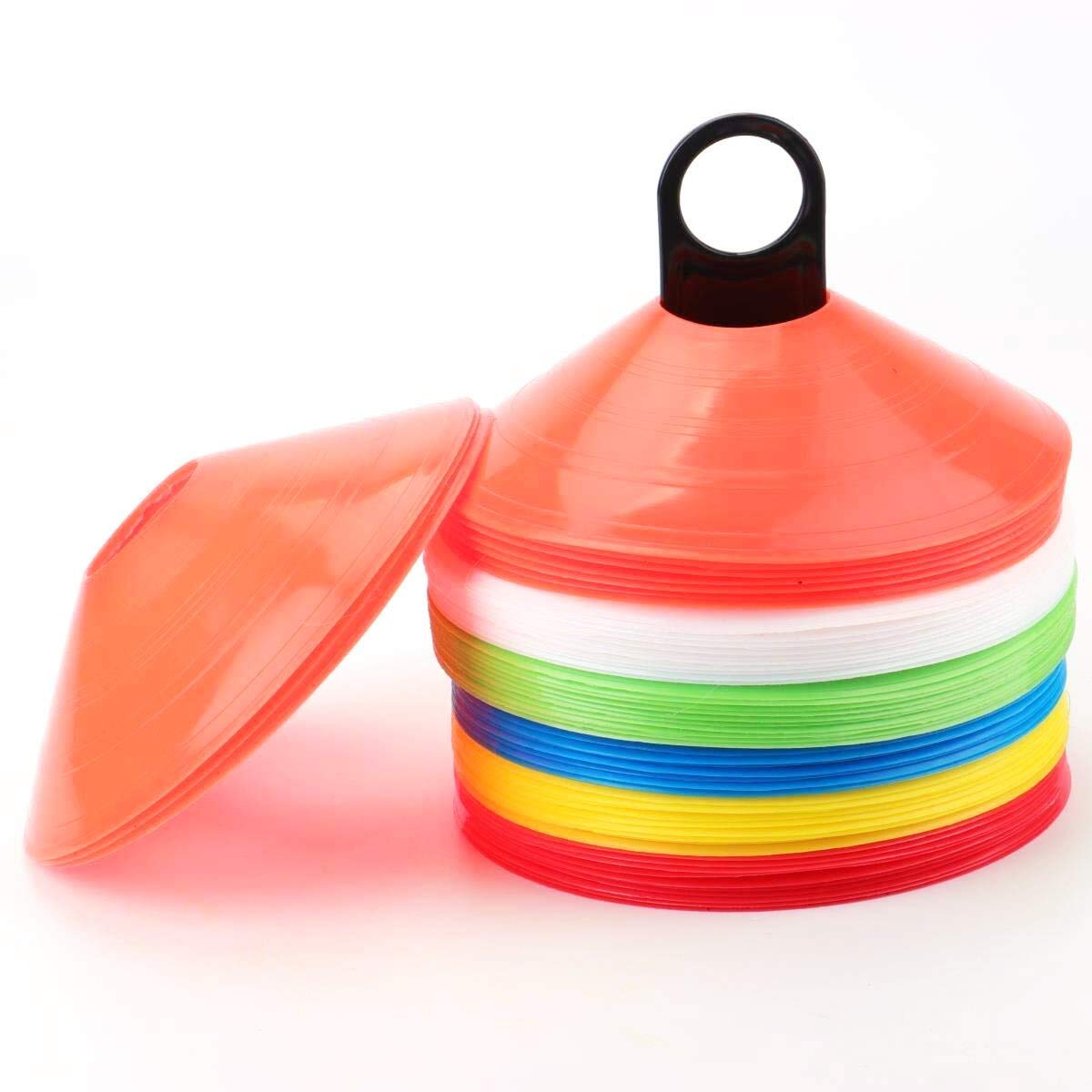besnail Conos marcadores 60/Unidades Incluye Soporte y Funda Juego de Amarillo Rojo besnail Naranja Azul Blanco