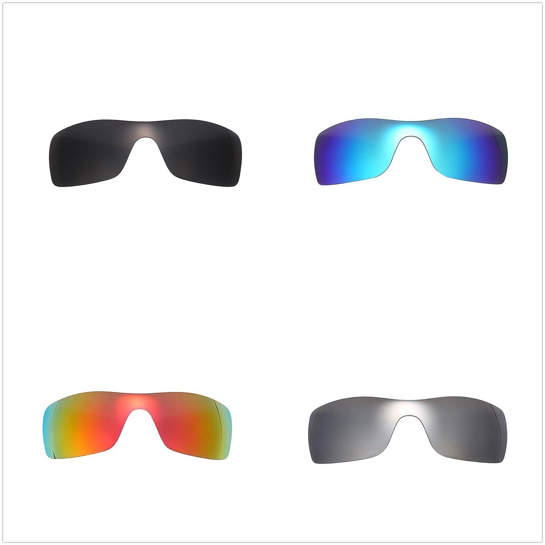 81631cc8026 Amazon.com  Set of 4 Polarized Replacement Lenses for Oakley Batwolf  Sunglasses NicelyFit  Clothing