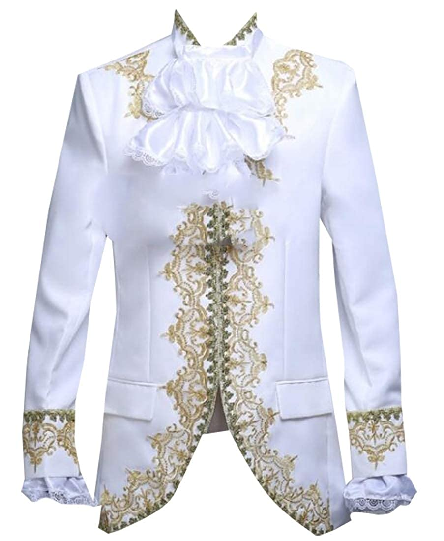 GAGA Mens Luxury Long Sleeve Front Open Stylish Suit Blazer Jacket