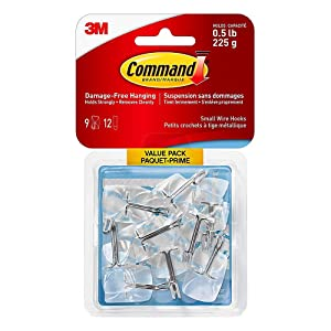 3M COMPANY 17067CLR-VP Clear Wire Hook (9 Pack)