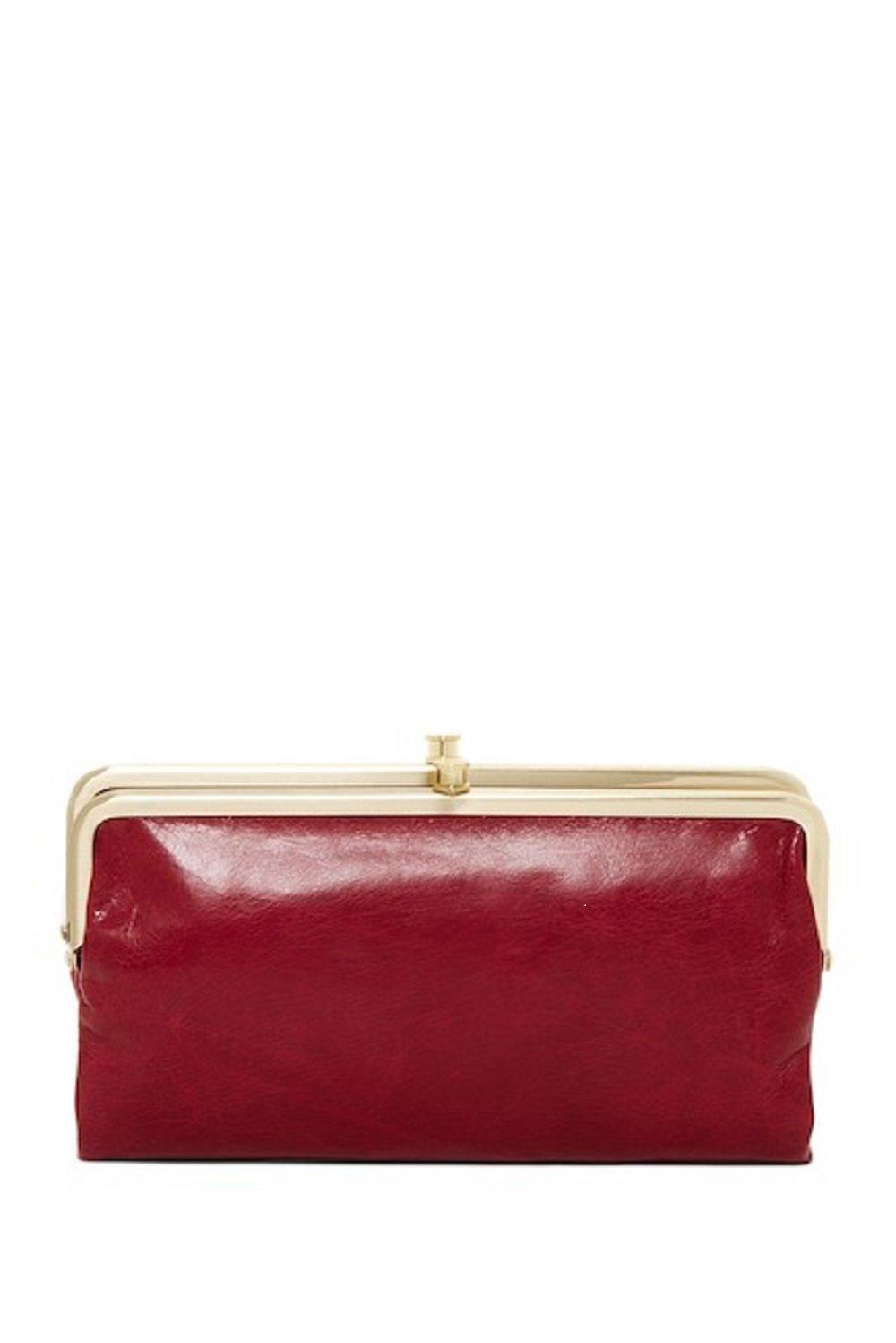 Hobo Womens Lauren Wallet RED PLUM Clutch Purse