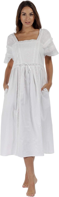 The 1 for U Nightgown 100% Cotton Women's Victorian Style Nightie Amanda