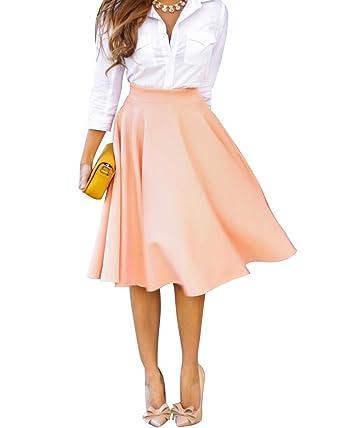52a07ee69d0 Minetom Femme élégante Jupe Longue Classique Jupe Chic taille Haute Robe  Plissé d Été Cocktail