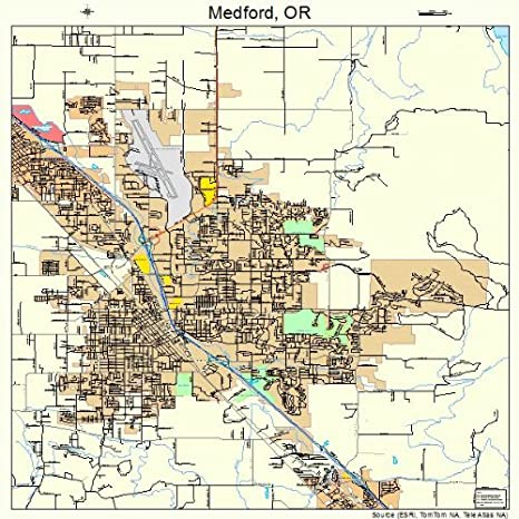 Amazon Com Large Street Road Map Of Medford Oregon Or Printed