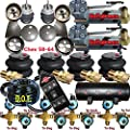 Impala Air Ride Kit Valves 7 Switch Air Compressors Tank 58-64 Chevy-Everything
