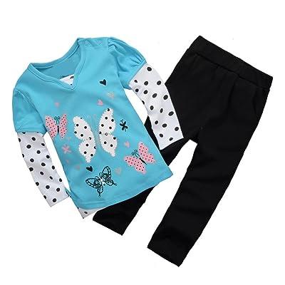 Baby Box Baby girls' Long Sleeve Infant Clothing Set T-shirt + pants Size 18 - 24 months