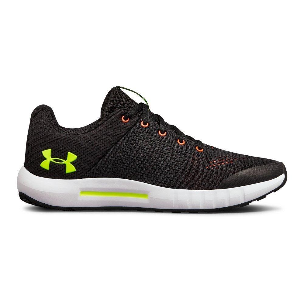Under Armour boys Grade School Pursuit Sneaker, Black (003)/White, 7