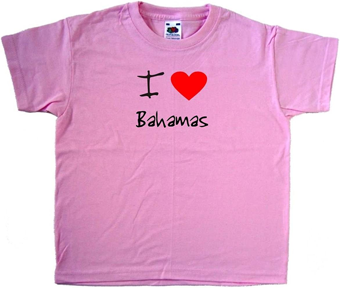 Bahamas text Pink Kids T-Shirt