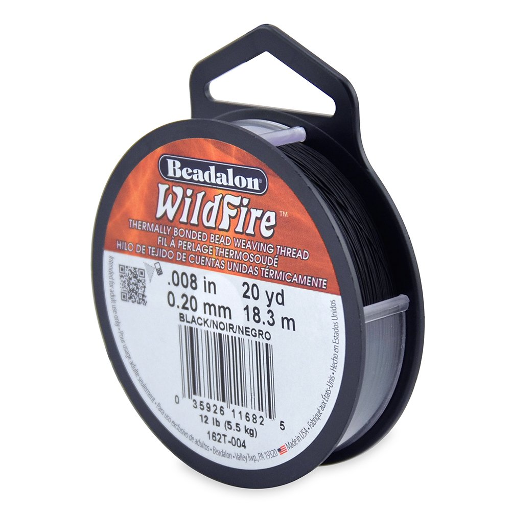 0.006-Inch, Beadalon Wildfire 0.006 Frost 20 yd Thermally Bonded Beading Thread