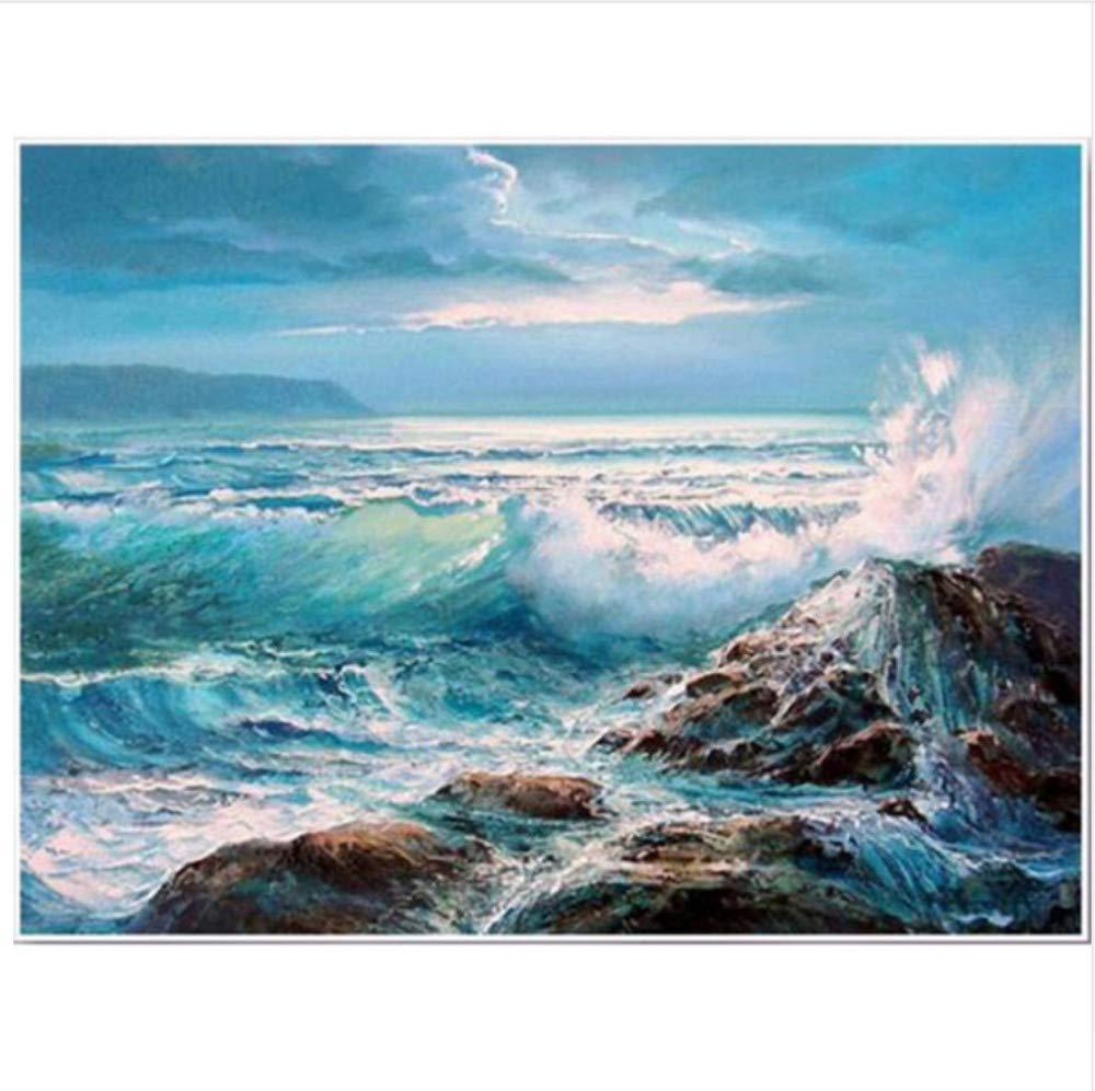 Malen Nach Zahlen Ocean Wave Reef DIY Home Decor Für Für Für Erwachsene-Framed B07Q5Q1RV7 | Angemessener Preis  cdd511
