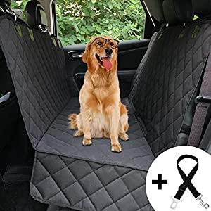 Honest Dog Car Seat Covers with Side Flap, Pet Backseat Cover for Cars, Trucks, and Suv's - Waterproof & Nonslip,Luxury(Quilted) 79
