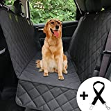 Honest Dog Car Seat Cover with Side Flap, Pet Backseat Cover for Cars, Trucks, and Suv's - Waterproof & Nonslip Hammock Convertible Dog seat Cover (Quilted Pattern, Black)