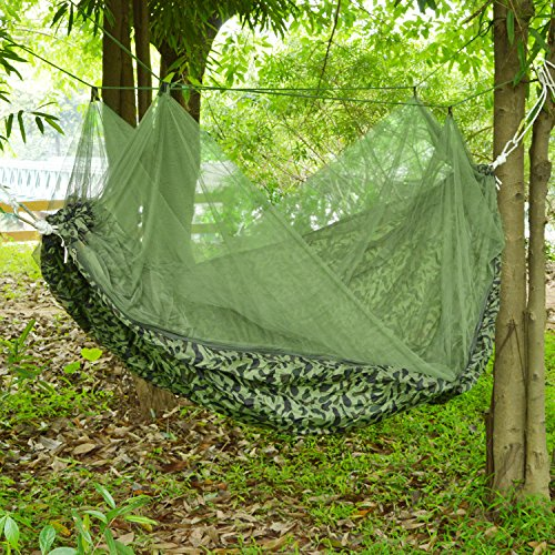 Camping hammock with mosquito net double persons for Net hammock bed