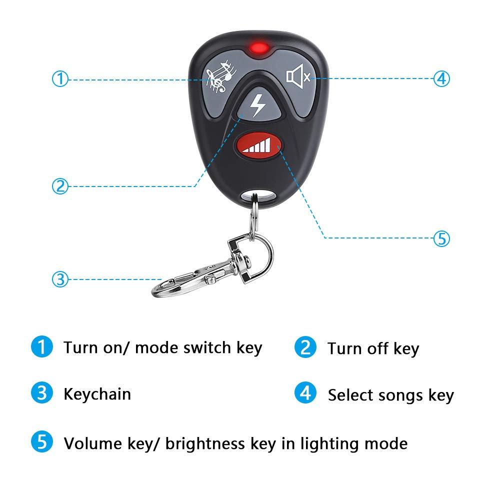 Operating Range - 900FT | 36 Chime Tunes | 4 Volume Levels | LED Flashing Light Wsdcam Motion Sensor System