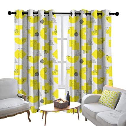 Amazon.com: Lewis Coleridge Window Curtain Fabric Abstract ...