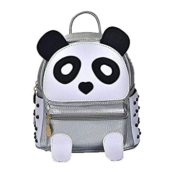 330a8355f46c8 Cute Panda Backpack for Girls and Boys Waterproof Leather Small Travel Bag