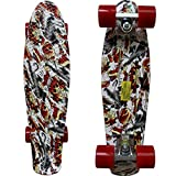 Rimable Complete 22' Skateboard (NEW SKULL)
