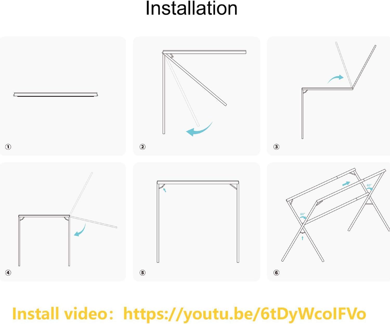 Plegable de 110 a 150 cm Jolitac Tendedero Plegable de Acero Inoxidable para Ahorrar Espacio Plegable