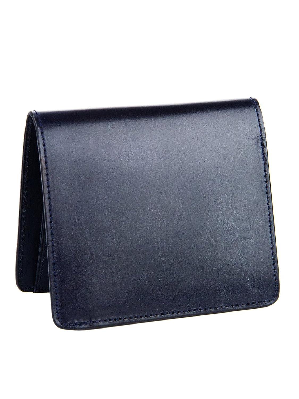 [コルボ] CORBO. 二つ折財布 純札 (縦型) 1LD-0234 -face Bridle Leatherフェイス ブライドルレザー シリーズ B0107NIDZSネイビー