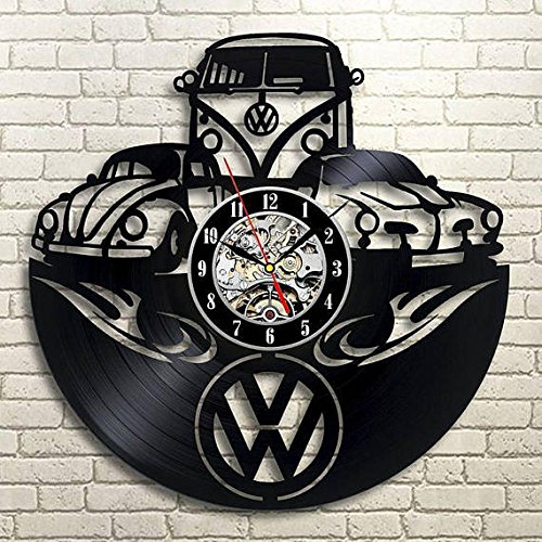Volkswagen Design Vinyl Record Wall Clock Unique gifts for him her Gift Ideas for Mothers Day Father birthday anniversary wedding cute and original gifts for everybody