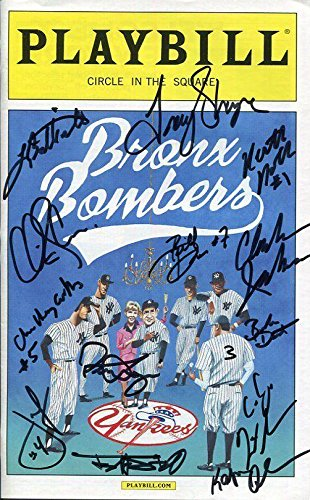 Bronx Bombers Hand Signed Ny City Playbill+Coa Signed By Cast On Cover - City Cast Signed