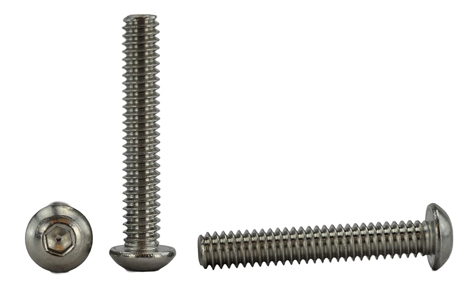 Stainless Steel 18-8 1//2 to 3 Available Socket Button Head Cap Screws Full Thread Hex Drive Coarse Thread 1//4-20 x 2-1//2 Stainless 1//4-20 x 2-1//2