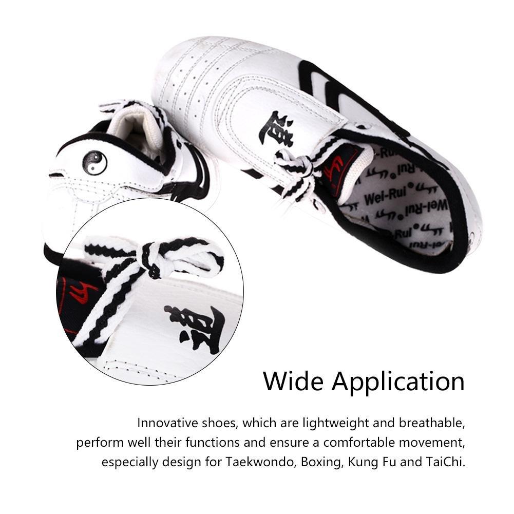 Chaussures l/ég/ères de Boxe Kung fu Sneaker darts Martiaux Taichi pour Le Taekwondo VGEBY Chaussures de Taekwondo la Boxe Le Kung-fu et Le Taichi